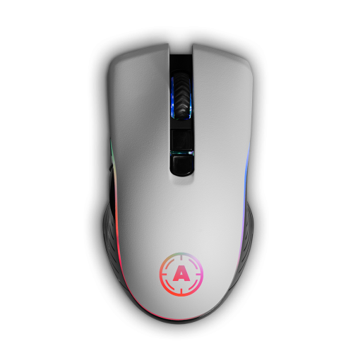 Aim White Matt RGB Mouse