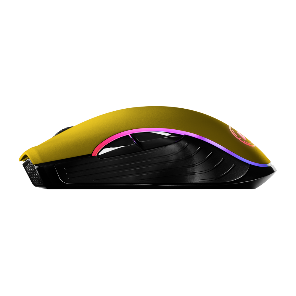 Aim Yellow Matt RGB Mouse