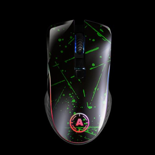 Aim Green Splatter Matt RGB Mouse