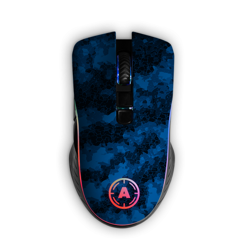 Aim Digi Camo Blue RGB Mouse