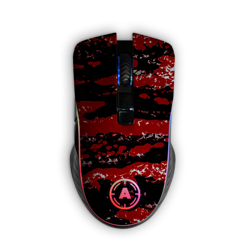 Aim Camo Red RGB Mouse