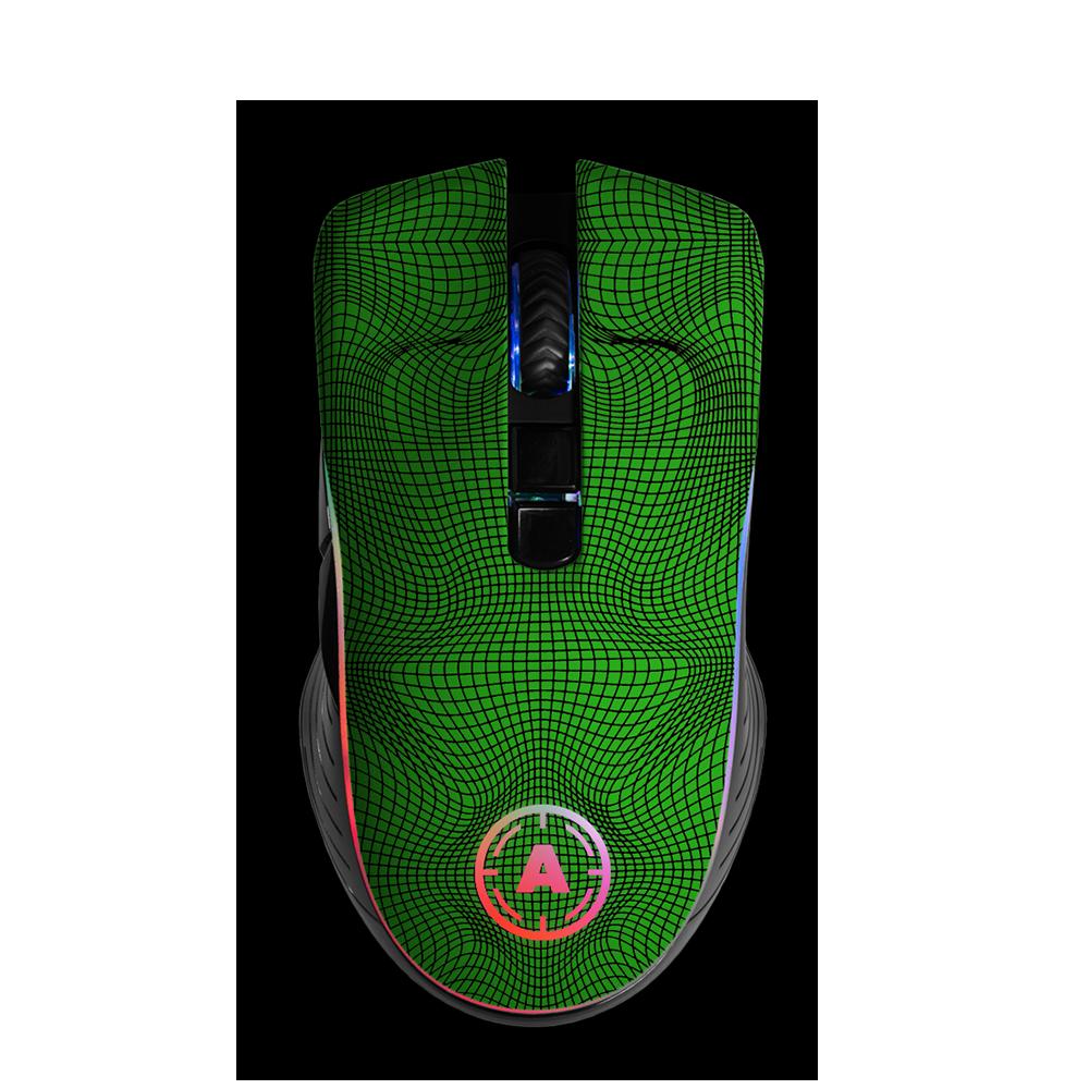 Aim Grid Green RGB Mouse