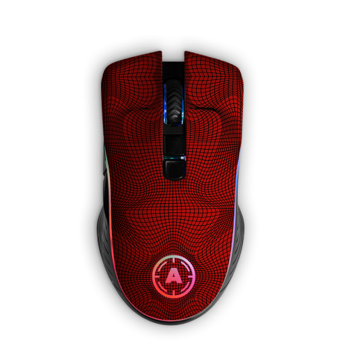Aim Grid Red RGB Mouse