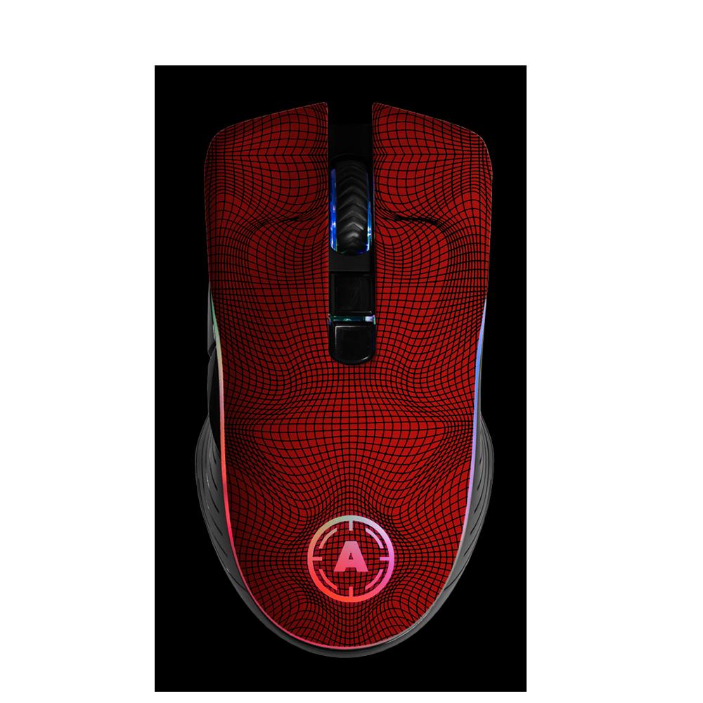 Aim Grid Red RGB Mouse