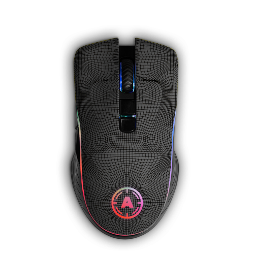 Aim Grid Grey RGB Mouse