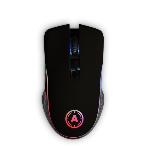 Aim Black Soft Touch RGB Mouse