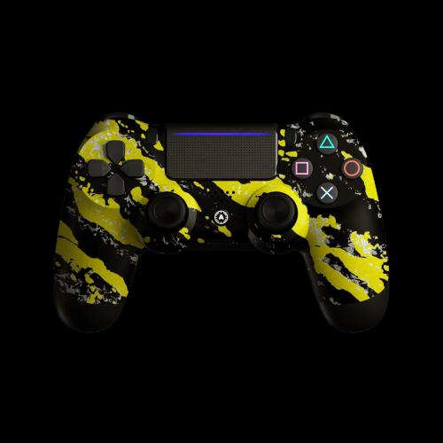 Aim Camo Yellow PS4 Controller