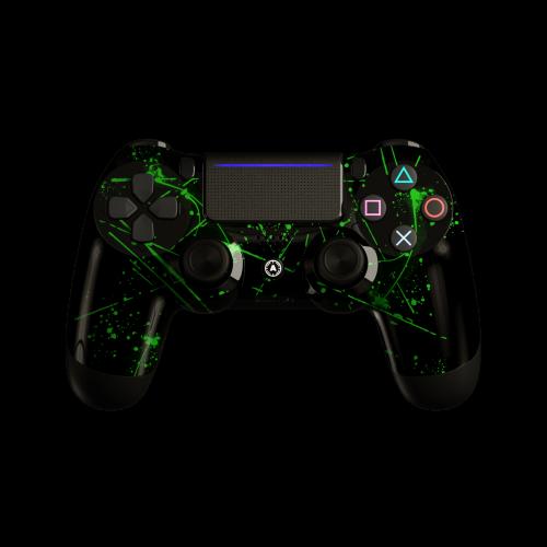 Aim Green Splattern PS4 Controller